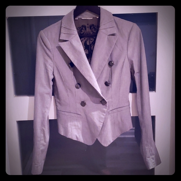 GUESS Double breasted cotton blazer